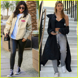 Kylie Jenner Gets a Facial From Hailey Baldwin