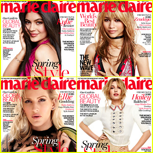 Kylie Jenner Talks Caitlyn, Hailey Baldwin Comments on Justin Bieber for Marie Claire's Fresh Faces Issue