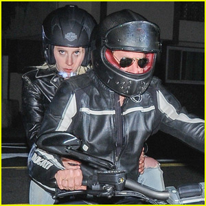 Lady Gaga Takes a Ride On Bradley Cooper's Motorcycle
