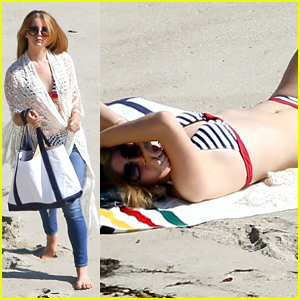 Lana Del Rey Bares Bikini Body While Sunbathing at the Beach