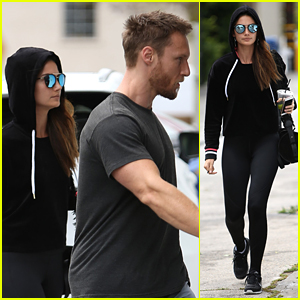 Lily Aldridge Bundles Up for Weekend Workout with Jason Walsh