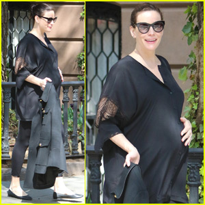 Liv Tyler Shows Off Her Baby Bump While Out & About