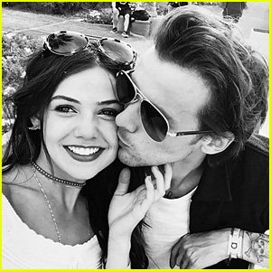Louis Tomlinson & Danielle Campbell Make Instagram Debut with Cute Kissing Selfie!