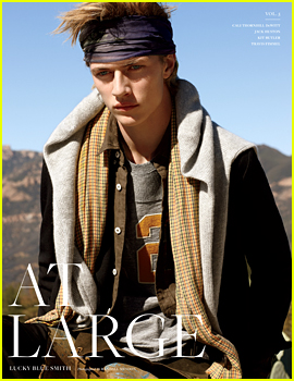 Lucky Blue Smith Covers At Large Magazine's New Issue (Exclusive First Look)