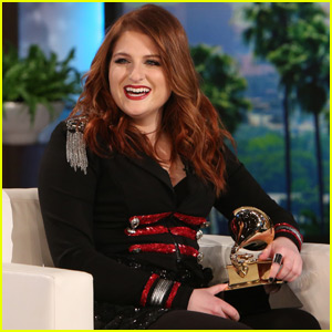 Meghan Trainor Gets Her Grammy on 'Ellen' - Watch Now!