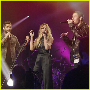 Nick Jonas Performs New Song 'Chainsaw' at CMT Crossroads with Thomas Rhett