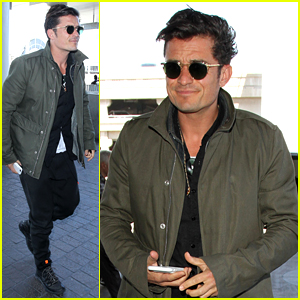 Orlando Bloom Pulls Off Cool Airport Style for Trip to Paris