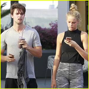 Patrick Schwarzenegger & Girlfriend Abby Champion Go For a Workout