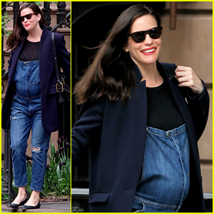 Pregnant Liv Tyler Accentuates Baby Bump in Overalls