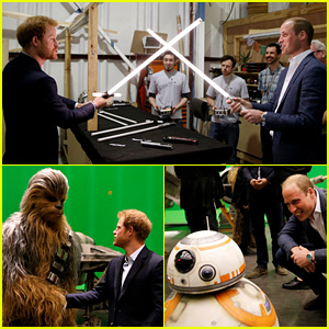 Prince William & Prince Harry Have Lightsaber Fight, Meet 'Star Wars' Cast & Characters!