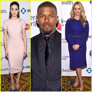 Emmy Rossum & Jamie Foxx Help Reese Witherspoon 'Stand Up to Cancer' in NYC