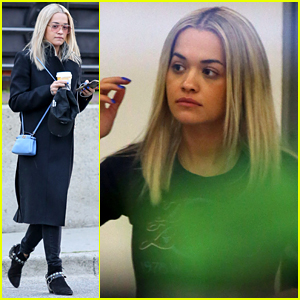 Rita Ora Gets Her Hair Done for 'Fifty Shades' Filming