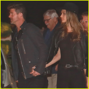 Robin Thicke & April Love Geary Have a Date Night in Malibu