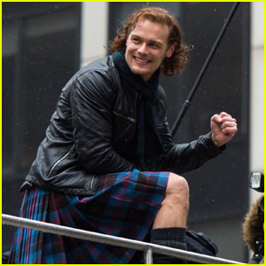 Sam Heughan Shows Off Scottish Roots by Wearing a Kilt
