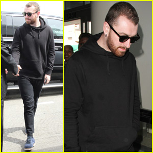 Sam Smith Heads Out of LA After Coachella Performance