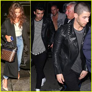Selena Gomez & Nick Jonas Party After Sunday's Award Shows!