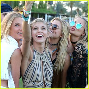 Victoria's Secret Models Devon Windsor & Rachel Hilbert Hit Coachella 2016