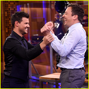 Taylor Lautner Plays 'Random Object Shootout' With Jimmy Fallon - Watch Now!