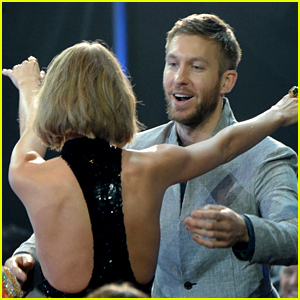 Taylor Swift Is Full of Pride During Calvin Harris' iHeartRadio Acceptance Speech! (Video)
