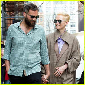 Tilda Swinton Looks Lovingly at Partner Sandro Kopp in NYC