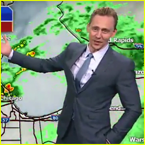 Tom Hiddleston Channels Loki While Doing Weather Report!