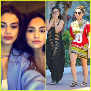Vanessa Hudgens & Selena Gomez Try Out Snapchat Face Swap
