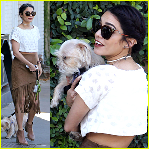 Vanessa Hudgens Spends Sunny Spring Day With Dog Darla