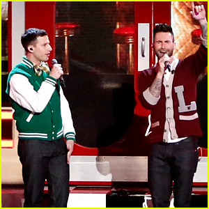 Adam Levine Performs with Andy Samberg's 'Popstar' Character on 'The Voice'