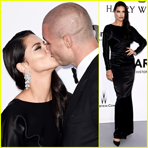 Adriana Lima Kisses Boyfriend Joe Thomas at Cannes amfAR Gala 2016