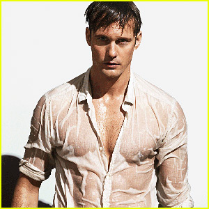 Alexander Skarsgard Is So Hot with a Wet Shirt for 'Vogue'