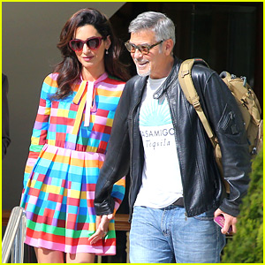 Amal Clooney Is Picture Perfect in a Rainbow Dress in Cannes!