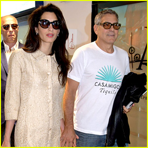 Amal Clooney Looks Chic at Airport with Husband George!