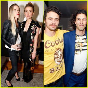 Amber Heard Joins James & Dave Franco at Their Brother Tom's Art Exhibit