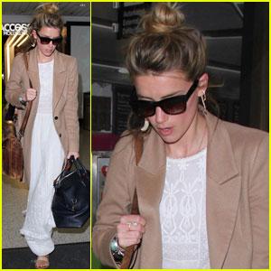 Amber Heard Flies the Skies Solo in Los Angeles