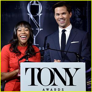 Andrew Rannells & Nikki M. James Announce Tony Nominations 2016!