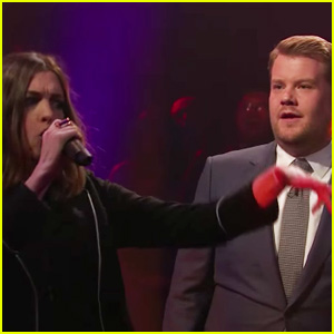 Anne Hathaway & James Corden Diss Each Other in Epic Rap Battle - Watch Now!