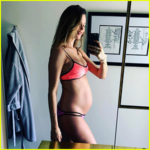Pregnant Behati Prinsloo Bares Baby Bump in Bikini Selfie
