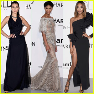Bella Hadid, Chanel Iman & Jourdan Dunn Are Simply Stunning at amfAR Cannes Gala 2016