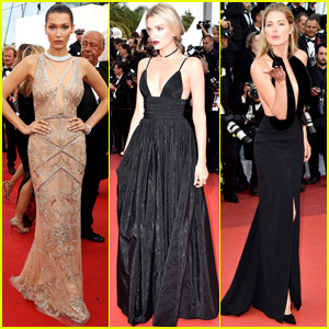 Bella Hadid, Lily Donaldson & Doutzen Kroes Get Glam at Cannes 2016