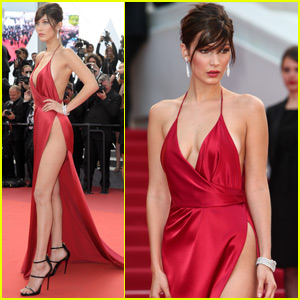 Bella Hadid Rocks Gown With Sky-High Slit at Cannes Film Fest 2016