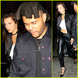 Bella Hadid Steps Out with The Weeknd After Landing First 'Vogue' Cover!