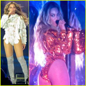 Beyonce Plays to Star-Studded Crowd at Pasadena's Rose Bowl