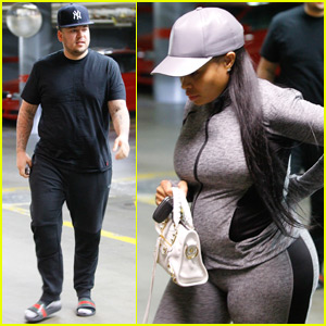 Blac Chyna & Rob Kardashian Head to a Doctor's Appointment