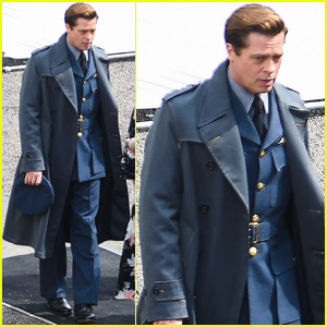 Brad Pitt Continues Filming 'Allied' in London