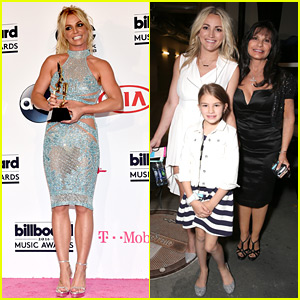 Britney Spears' Family Shows Support Backstage at Billboard Music Awards 2016!
