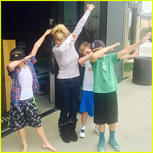 Britney Spears Documents Memorial Day Weekend with Her Sons By the Pool!