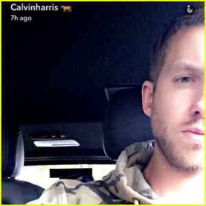 Calvin Harris Hides Half of His Face in New Selfies