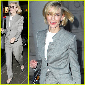 Cate Blanchett Rocks a Pantsuit in London