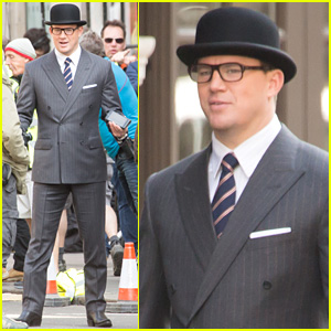 Channing Tatum Films 'Kingsman: The Golden Circle' in London!