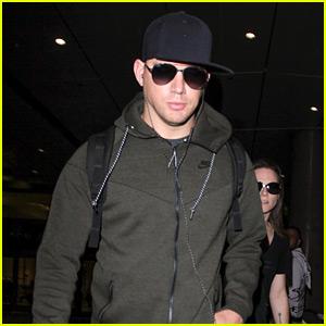 Channing Tatum Heads Home After Filming 'Kingsman 2′ | Channing ...  Channing Tatum